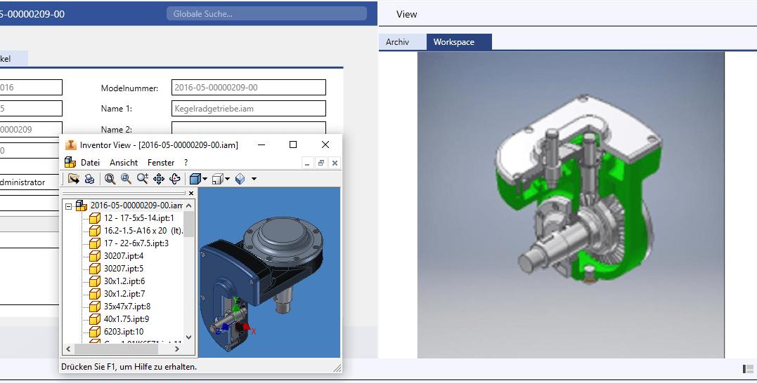 Visualisierung: Schnelle Voransicht aller Dokumente über die bereits installierten Viewer. Nebendokumente direkt per Doppelklick öffnen und betrachten.