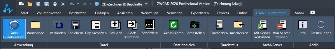 ZWCAD PDM Schnittstelle 2020